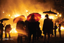 Sample image: Lanterns and people at a festival