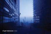 Sample image: Office buildings in fog