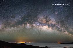 Sample image: Stars over snow